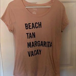 Vacation T shirt beach tan margarita vacay